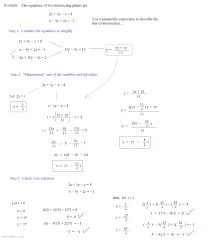 math plane parametric equations