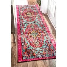 nuloom distressed abstract vintage multi runner rug 2 6