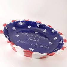 personalized pie plate americana pie plate personalized pie dish american as