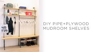 Home Made Modern by Diy Pipe Mudroom Shelves Youtube