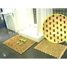 Bamboo Bathroom Rug Bamboo Bathroom Mat Sebastianwaldejer