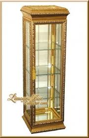 Antique Brass Display Cabinet Gold Curio Cabinets Foter