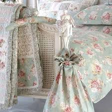 Duck Egg Blue Bed Linen - sashi elisha floral patchwork 100 cotton quilted bedspread duck