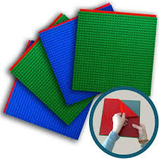 plates that stick to table green blue peel n stick baseplates 4 pack creative qt