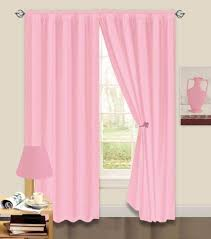 Baby Pink Curtains 66 X 72 Thermal Backed Light Reducing Baby Pink Plain Curtains