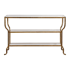 Gold Console Table Uttermost Deline Gold Console Table Uttermost Item 24668