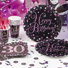 30th Birthday Party Tableware & Decorations Party Pieces