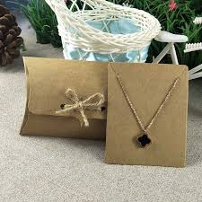 necklace set gift box images 2017 100x80x25mm pillow box with jewelry set display card kraft jpg