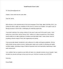 Resume Email Cover Letter Samples by Email Cover Letter Job Application 11115