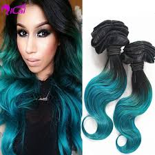 teal hair extensions 1b green ombre hair extensions 7a ombre human hair weave