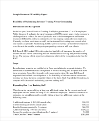 technical feasibility report template 11 sle feasibility report free sle exle format