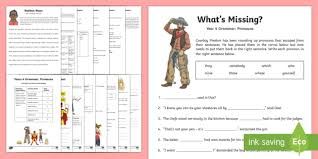 year 4 grammar pronouns working from home activity booklet