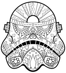 dark vader sugar skull coloring page az coloring pages b y o s