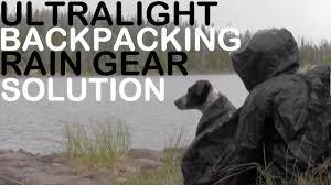 ultralight backpacking rain gear solution silnylon hammock