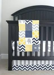 Grey And Yellow Crib Bedding Blue Grey Yellow And Gray Baby Nursery Bedding Custom Crib Bedding