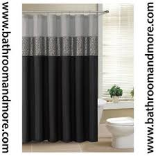 Grey Metallic Curtains Black And Gray Fabric Shower Curtain With Metallic Silver Accent