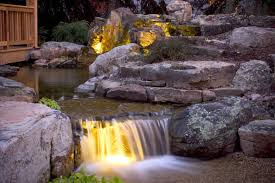 pond water garden lighting create magic at aquascape