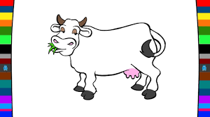 farm animals coloring pages how to draw a cow drawing and