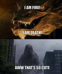 Godzilla Meme - godzilla and smaug by onyxcarmine on deviantart