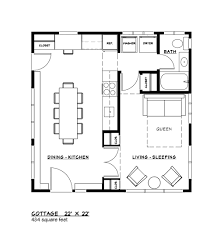 Drawing Floor Plan Modern Style House Plan 1 Beds 1 00 Baths 484 Sq Ft Plan 917 37