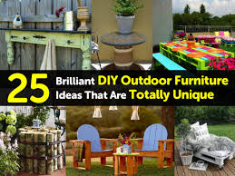 patio furniture ideas 25 brilliant diy outdoor furniture ideas that are totally unique