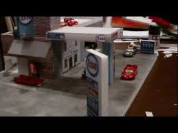 Plans For Wooden Toy Garage by Diy Kids Toy Car Gas Station Youtube