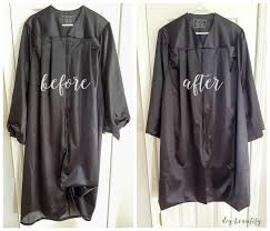 grad gowns how to easily alter a graduation gown with no sewing diy beautify
