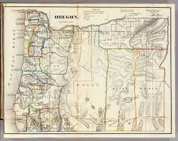 Oregon County Map by Historical Maps Washington Council Of County Surveyors