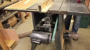table saw vacuum dust collector dust collection for old contractor table saws youtube