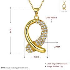 rose zircon necklace images Necklaces women classic drop gold plated rose gold plated copper jpeg