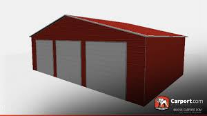 three car garage storage building with vertical roof carport com