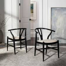 Black Dining Chairs Safavieh Aramis Black Dining Chair Set Of 2 Sea6000b Set2 The