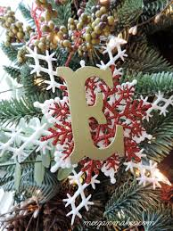 handmade monogram christmas ornament what meegan makes