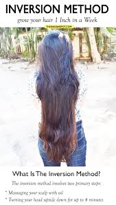 1 inch of hair inversion method grow your hair 1 inch in a week theindianspot com