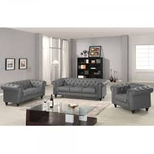 canapé chesterfield cuir gris canapé chesterfield gris capitonné en simili cuir 3 places