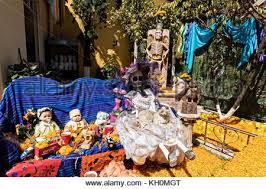 figurines of santa muerte saint death sold in a witchcraft