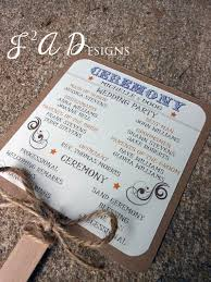 rustic wedding fan programs for helping with the heat country western rustic wedding fan