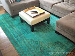 Teal And Gold Rug Retro Ranch Reno Great Room Rugs