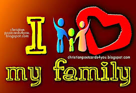 i love my family christian cards for you
