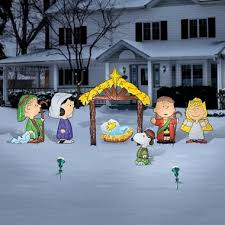 Outdoor Christmas Nativity Decorations Sale by Large Outdoor Nativity Sets Peanuts Nativity Set 279 99 Our