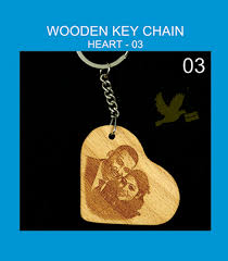 wooden keychains wooden heart keychains personalized engraved your photos on