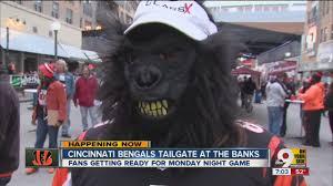 Cincinnati Bengals Halloween Costume Bengals Texans Fans Crowd Banks Hoping 9 0