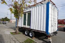homes on wheels do wheels make a shipping container home an rv oakland may soon