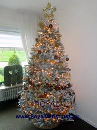 snow artificial christmas tree deluxe with strong warm led lights