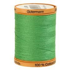 Shamrock Green Green Cotton Thread Fabric Com
