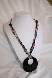 crochet ladder trellis yarn necklace crafty stuff pinterest