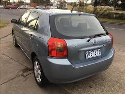 toyota car sales melbourne used 2004 toyota corolla conquest seca zze122r 5d hatchback for