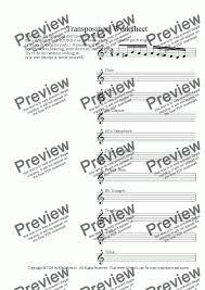 transposition worksheet