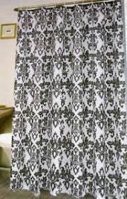 Black And White Damask Curtain Damask Curtains Ebay