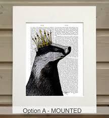 badger print badger king by fabfunky home decor